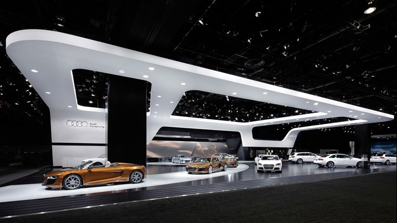 Car Exhibition Stand Design : Audi detroit motorshow stand architecture