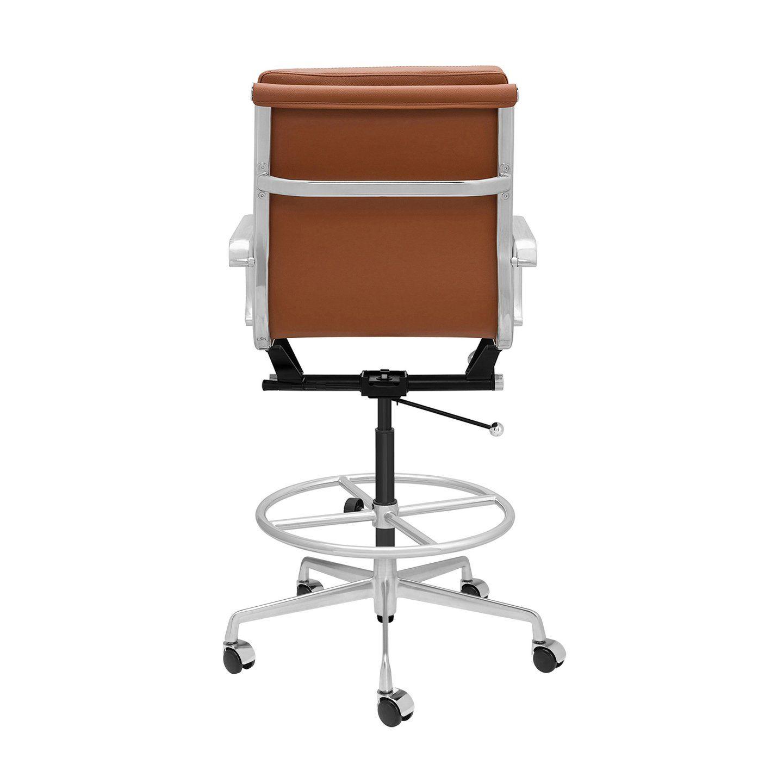Ships april 30th soho soft pad drafting chair brown