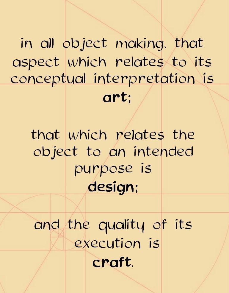 As an artist, I have always thought this to be the simplest definition of the creating process.