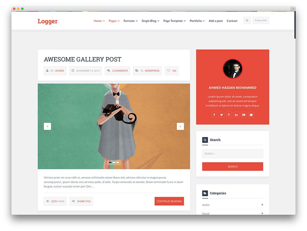 40+ Best Tumblr-Style WordPress Blog Themes For Personal & Corporate ...