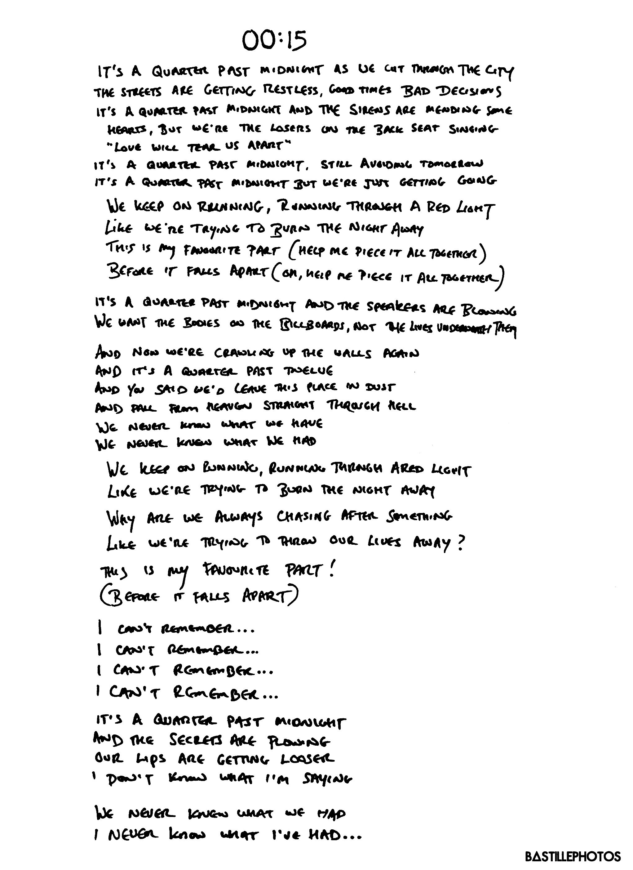Doom D Ys Handwritten Lyric Scans Provided To You By