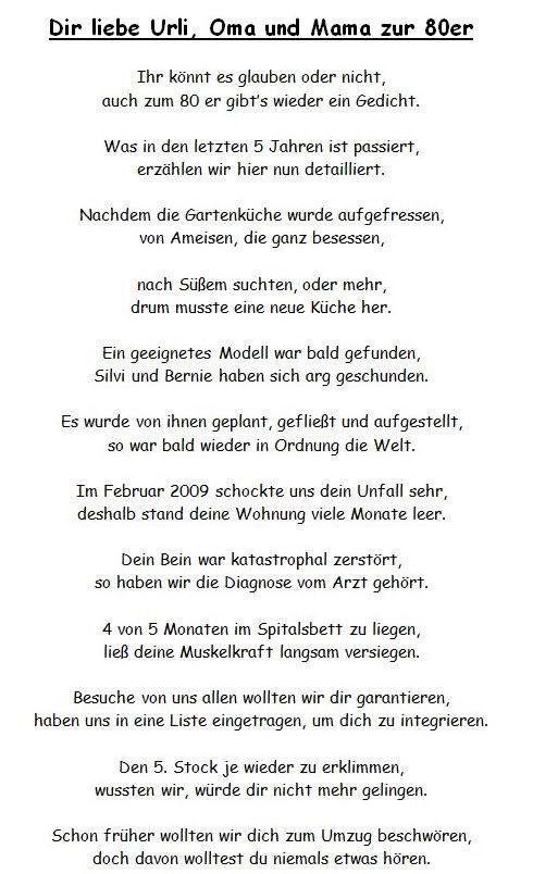 Geburtstagswunsche Zum 80 Fur Oma Fresh Gedichte Zum 80 Geburtstag