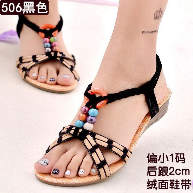 3c76a2bde4f8 Women Shoes Women Sandals Bohemia Style Ankle-strap Flip Flops Summer Flat  Shoes Woman Ladies