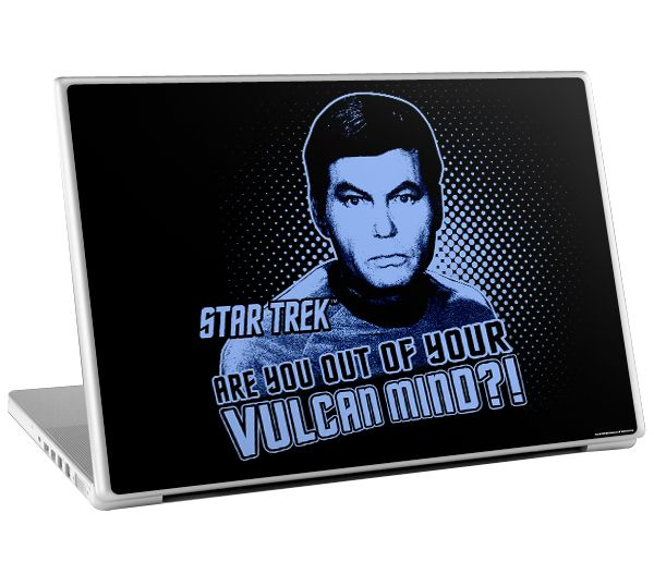 Original Star Trek Dr. MCcoy Laptop Skin http://bit.ly/1cL7lIB #OriginalStarTrek #StarTrek #DeforestKelley#DrMCcoy #LaptopSkin