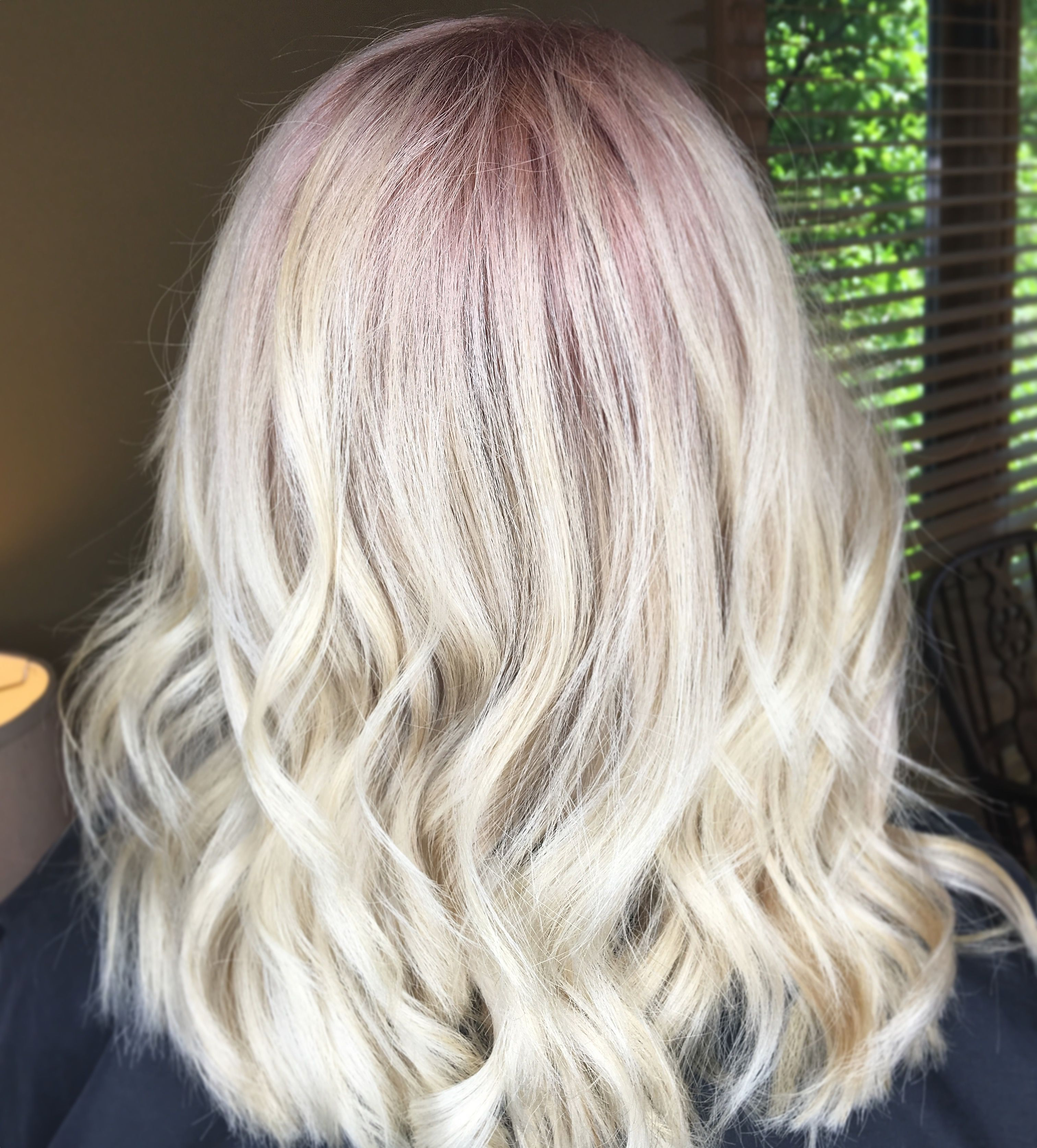 Rose Gold Shadow Root Beautybyrachelware Shadow Root Rose Gold Hair Gold Hair