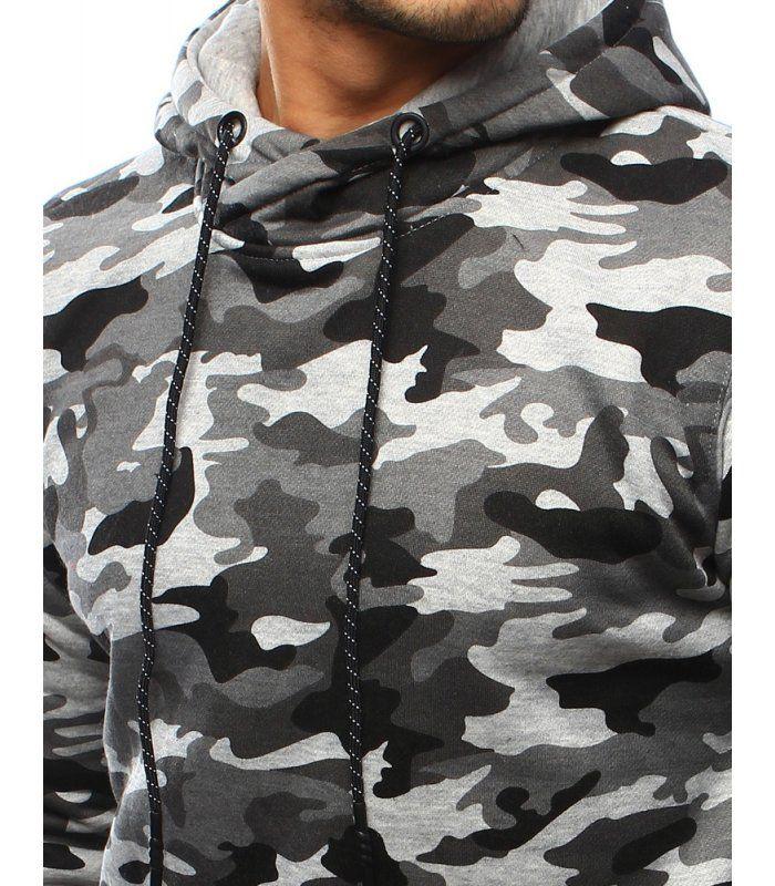 e7cd397379c2 Pánska maskáčová šedá mikina ArmyStyle 07 s kapucňou