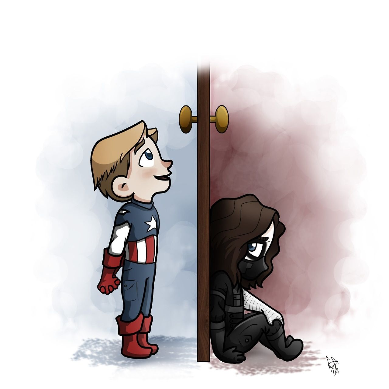Little Steve and Bucky  So sad and cute at the same time  | Bucky