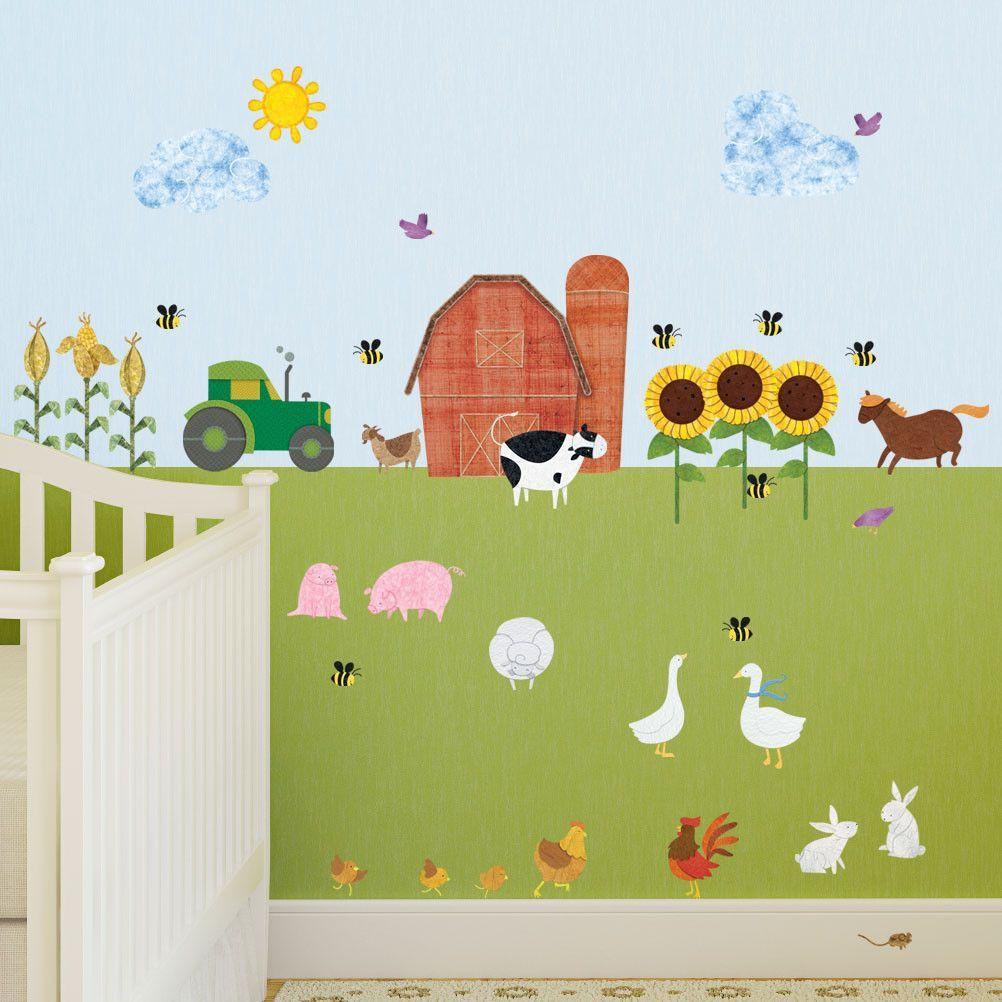 Farm Wall Decals L Stick Theme Mural Sticker Kit