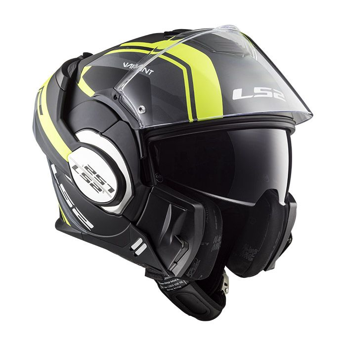 fa2703c7902ee Casco convertible LS2 Helmets FF399 VALIANT LINE Matt Black H-V Yellow -  Sotocasco Windproof de regalo