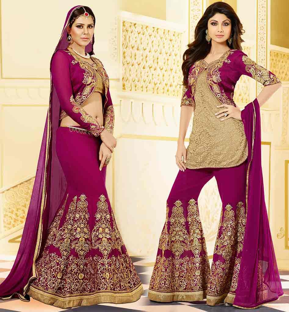 NEW EMBROIDERED JACKET STYLE  SALWARSUIT DESIGNS STYLISH GEORGETTE NET TOP  DRESS COMES WITH RAW SILK. New embroidered jacket style salwar suit designs  kmsh4061