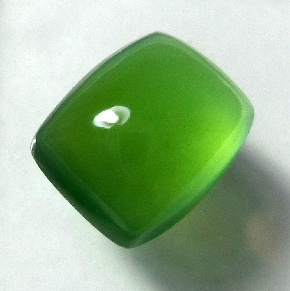 Natural Untreated Top Green Serpentine 12.9 Carat 15.6x12.8 mm Cushion Cabochon #Unbranded