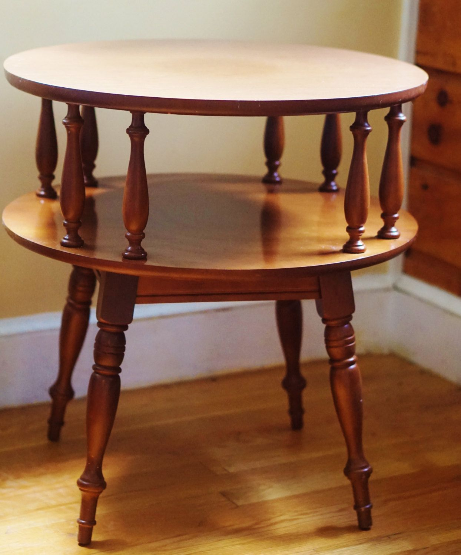 Heywood Wakefield Mid Century Coffee Table End Tables: Heywood Wakefield Inspired Side Table