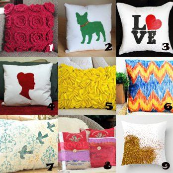 DIY throw pillow ideas - use large cotton bags instead of sewing - just cut  off