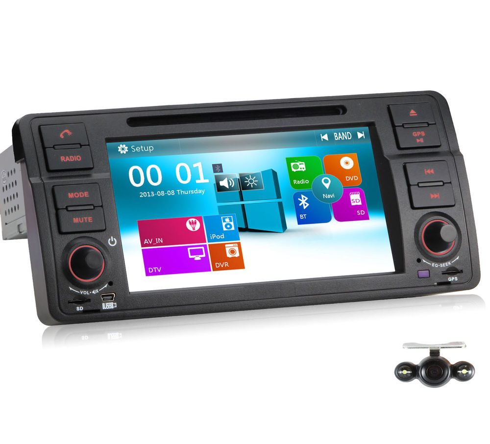 Car DVD GPS Navigation Radio Stereo System For BMW 3 Series E46+ ...