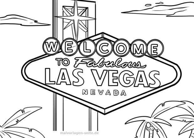 Malvorlage Las Vegas Schild Sehenswurdigkeiten Malvorlagen Ausmalbilder Gratis Las Vegas
