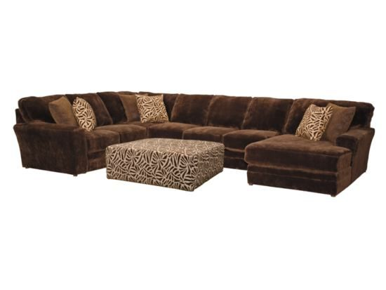 Superb Champion Chocolate 4 Pc Sectional American Signature Ncnpc Chair Design For Home Ncnpcorg