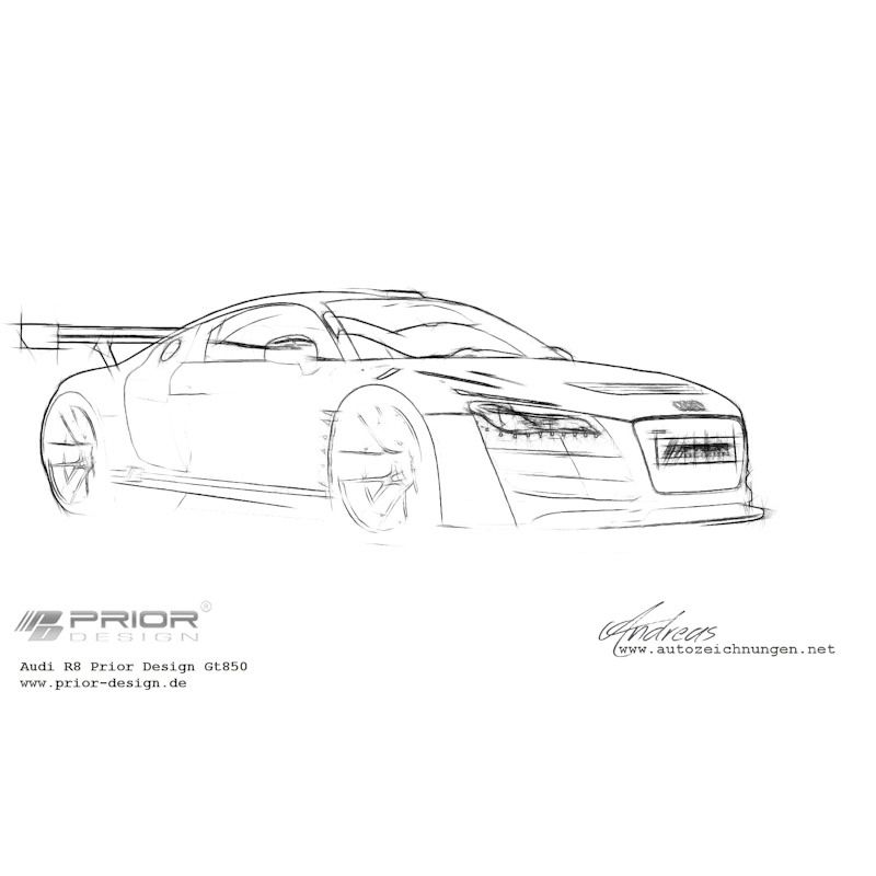 Audi R8 Prior-Design Gt850 #cardrawing #sketch #Pencildrawing by www ...