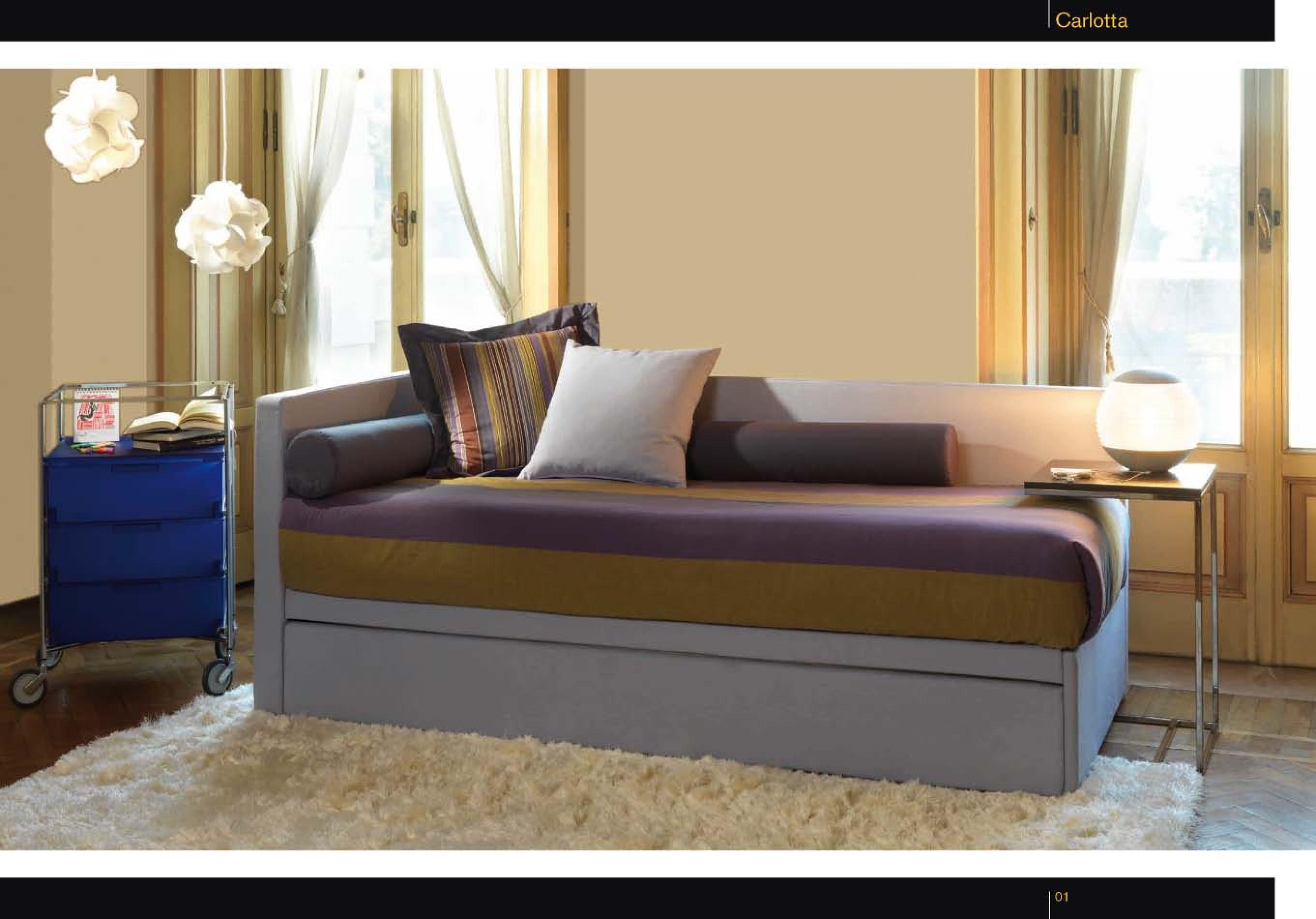 CARLOTTA Divano - letto ideale per camerette e seconde case ...