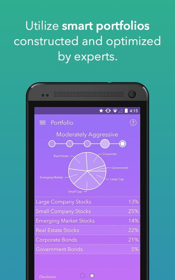 Acorns investment app - UI Interface Design Interface design