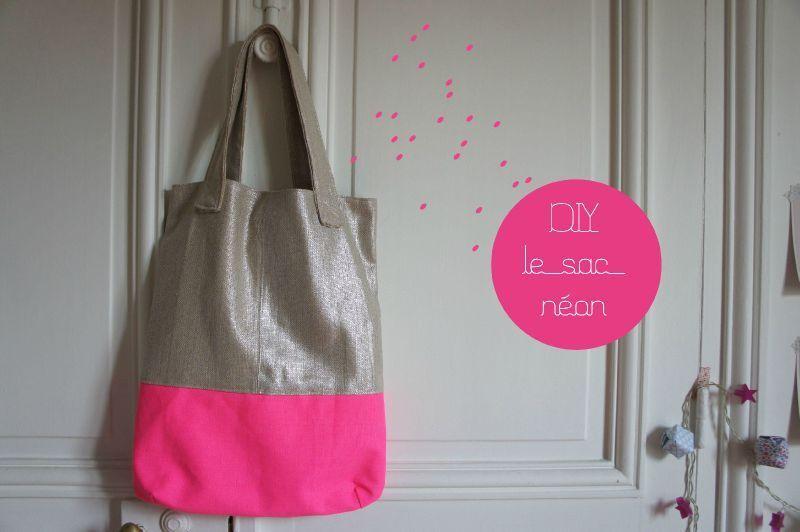 Tuto sac | D.I.Y. tote / sac / pochette | Pinterest | Nähideen