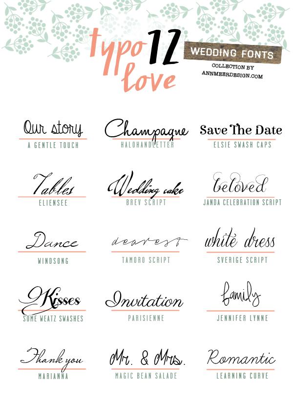 Schöne Schriftarten Für Individuelle Karten Hochzeit