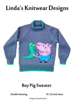 91c2ea227 George Pig sweater knitting pattern
