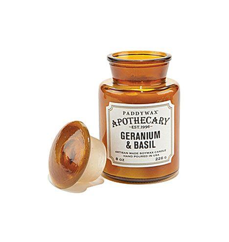 Paddywax Geranium & Basil Apothecary Jar Candle Free ...