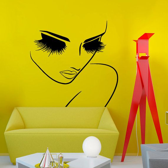 Wall Decals Hairdressing Hair Beauty Salon Decal Vinyl Sticker Woman ...