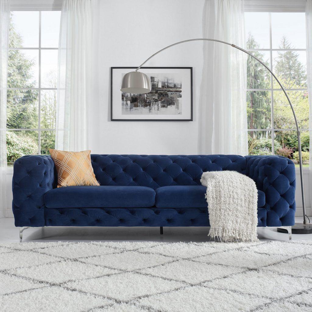 43 A Startling Fact About Blue Furniture Living Room Decorating Ideas Interior Desi Velvet Chesterfield Sofa Blue Furniture Living Room Blue Living Room Decor