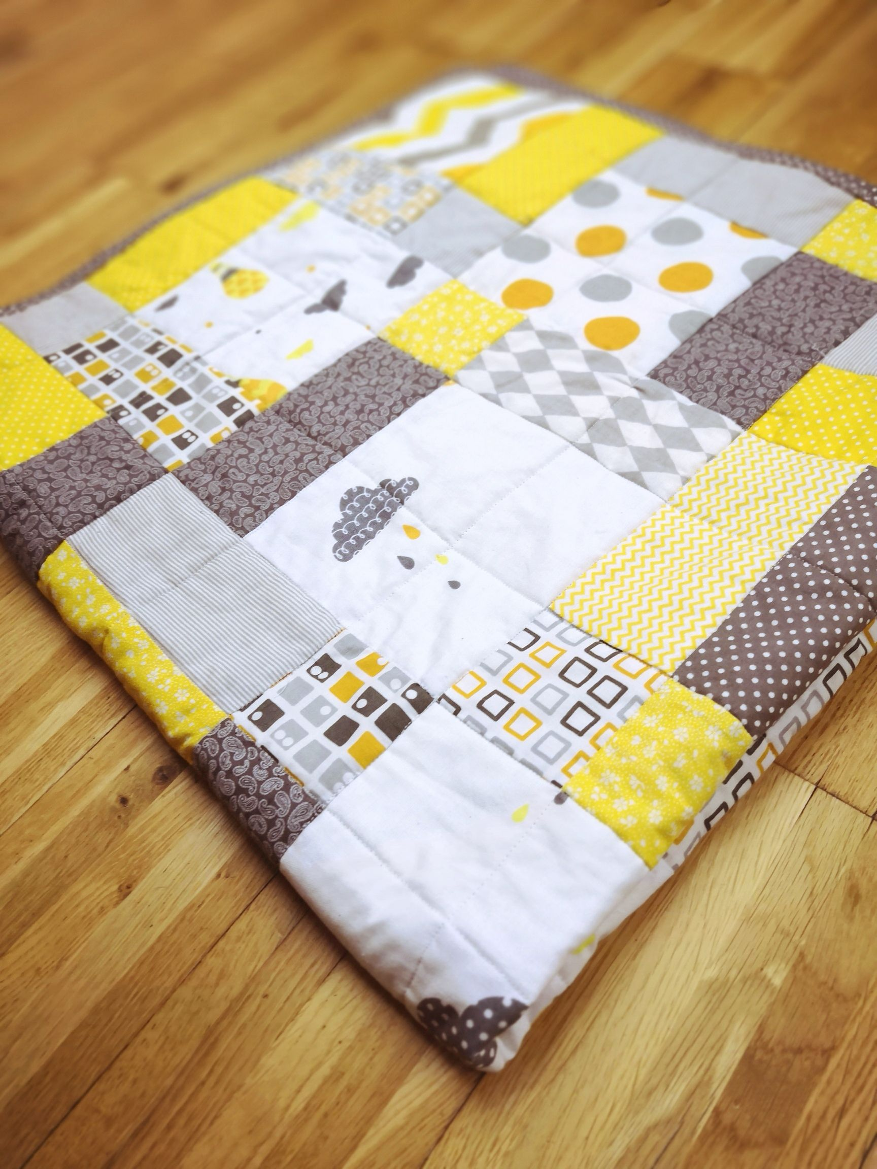 e5defd2abcd6c Modern Baby Patchwork Quilt, READY TO SHIP unisex quilt, sized 41x41 ...