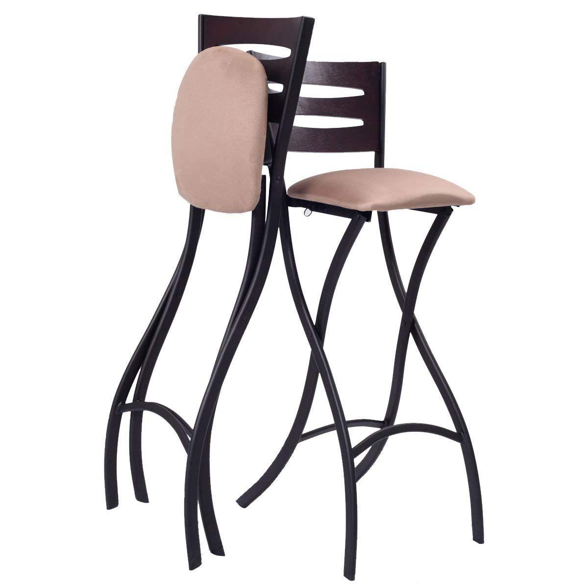 Folding Counter Bar Stools Bistro Dining Kitchen   Bar stools ...