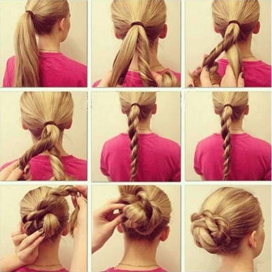 Astounding Bun Hair Tutorials Twisted Bun And Bun Hair On Pinterest Hairstyle Inspiration Daily Dogsangcom