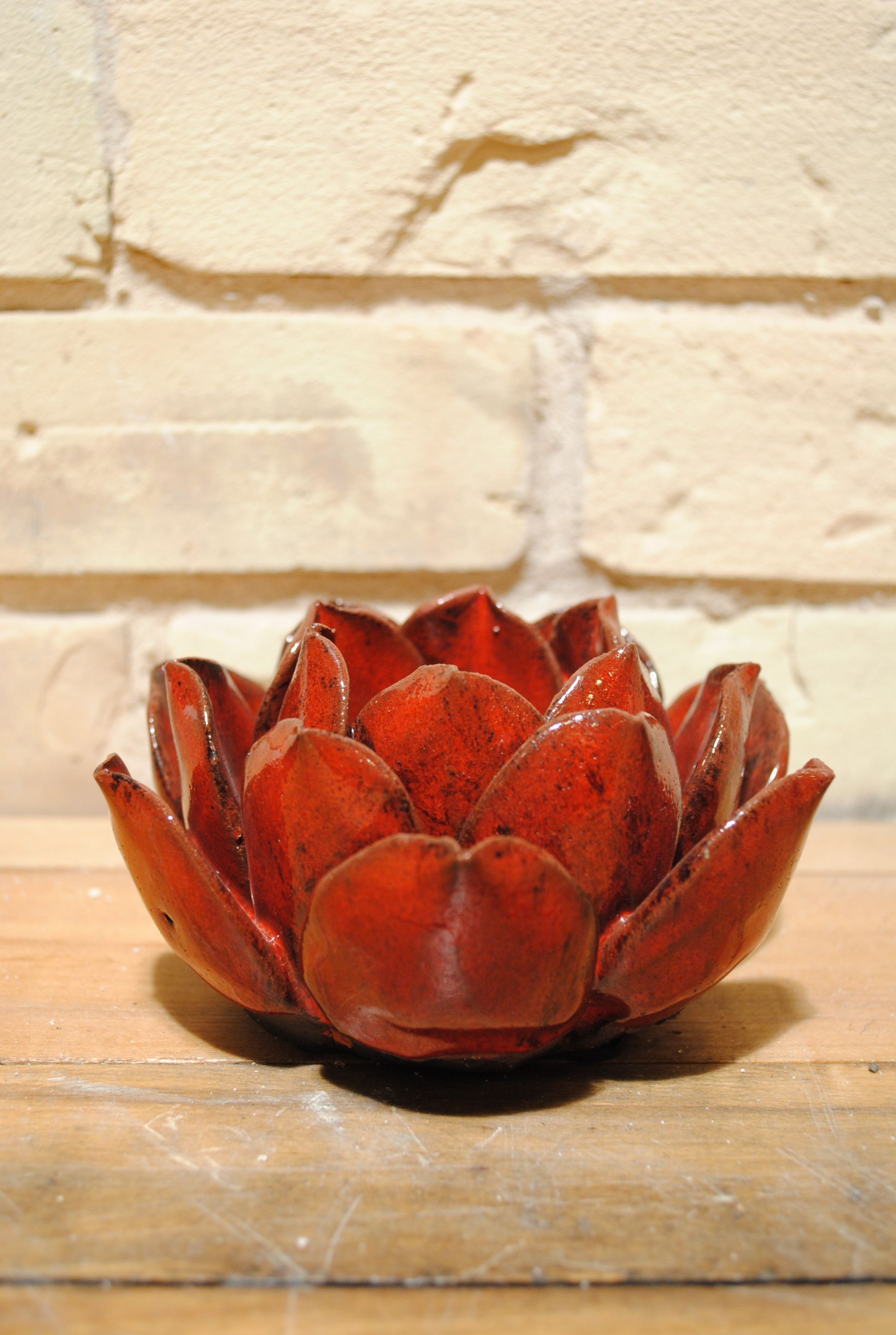 Mini lotus flower candle holder i would like this in white for my