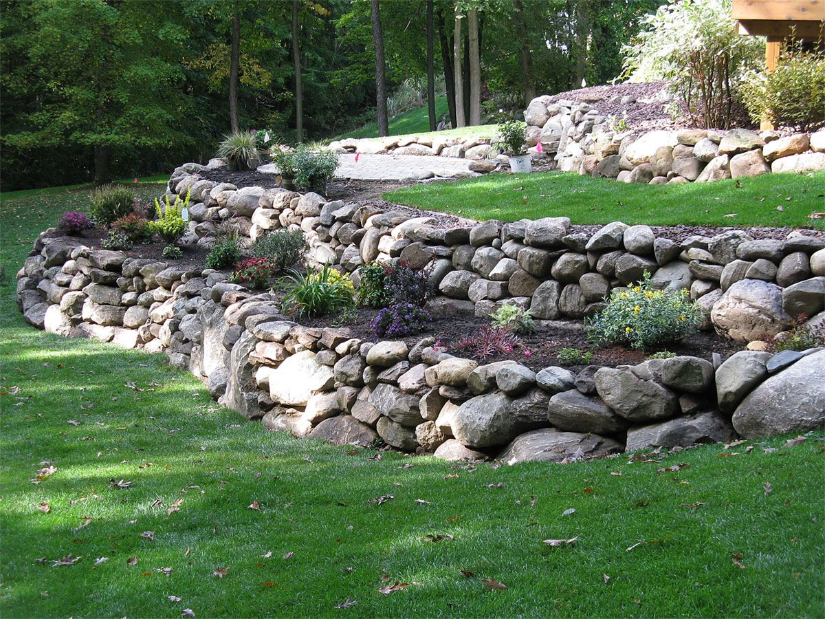 retaining walls and water features
