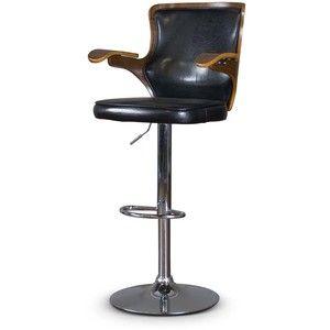 Baxton Studio Hamilton Walnut/ Modern Adjustable Height Swivel Barstool