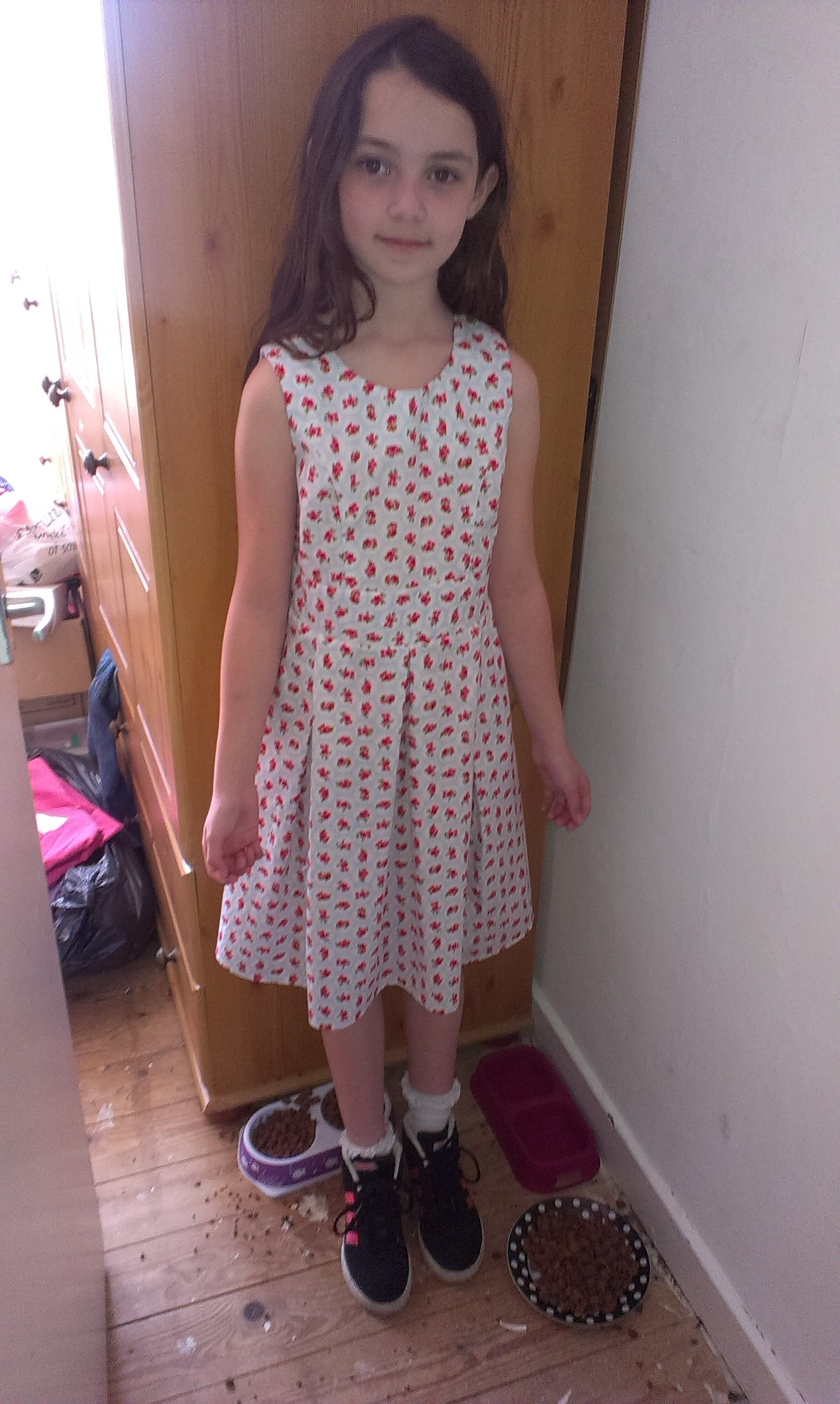 Skye with her new dress