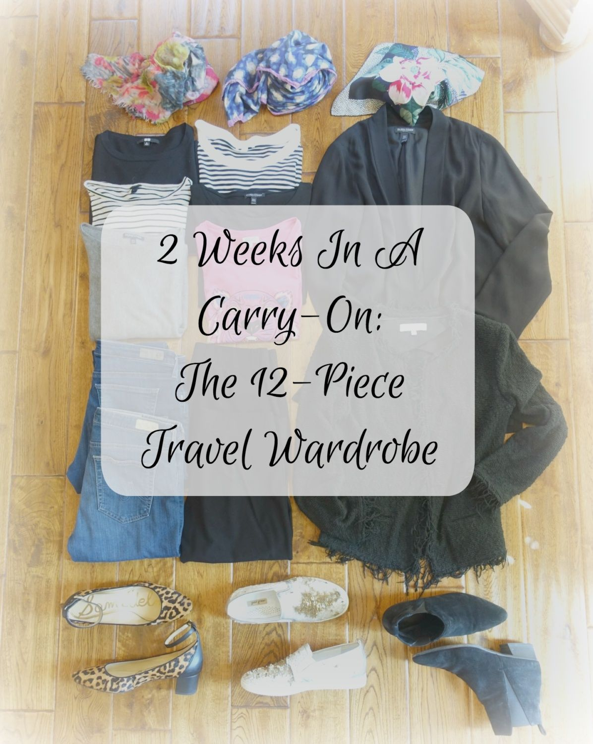 My 12 Piece Travel Wardrobe For Italy Spring Or Fall
