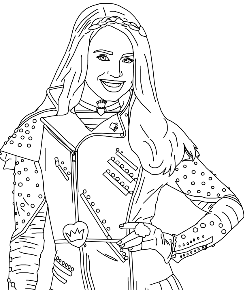 Descendants 3 Coloring Sheets Coloring Pages Baby Coloring Pages Descendants Coloring Pages