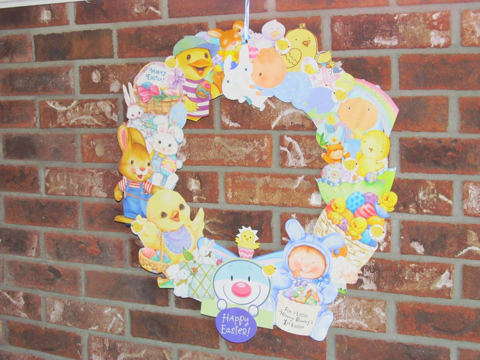 Easter wreath made from old greeting cards being mrsscrapdiva easter wreath made from old greeting cards being mrsscrapdiva kristyandbryce Images