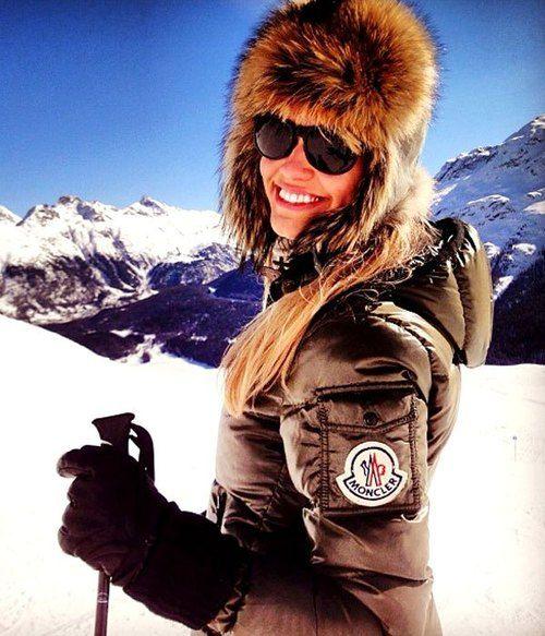 10747d811 Brown Moncler 'Badia' down jacket | SHINY NYLON #skiing #winter ...