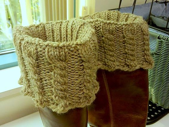 Cabled Boot Toppers Crafty Knitting Crochet Pinterest Boot