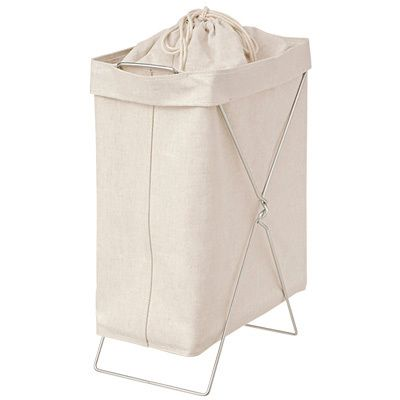 Rolling Laundry Hamper Nursery Toy Storage Bins for Women Baby White Strips Large Collapsible Laundry Basket Dirty Clothes Sorter and Organizer on Wheels Natural Jute Fabric Hamper with Handles