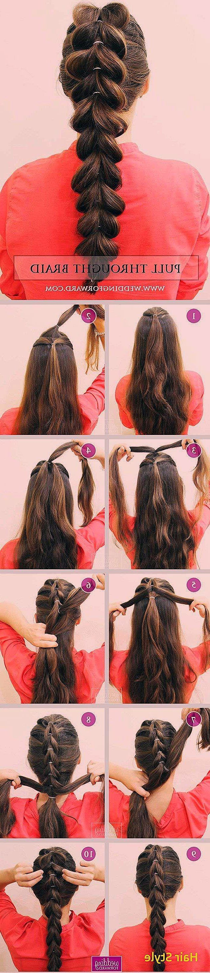 Luxus einfache Frisur für Mädchen zu Hause Schritt für Schritt #Short Hair #d …