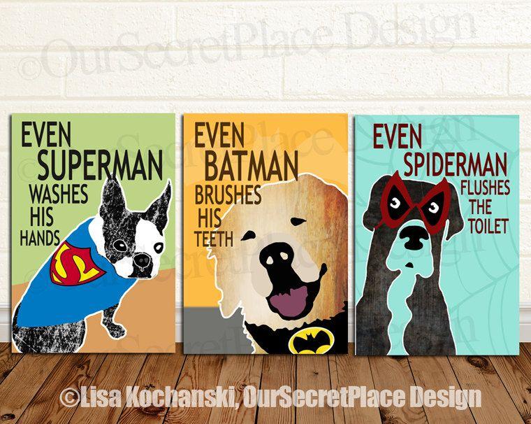 PRINTABLE Any Size Superhero Brush Wash Flush by OurSecretPlace ...