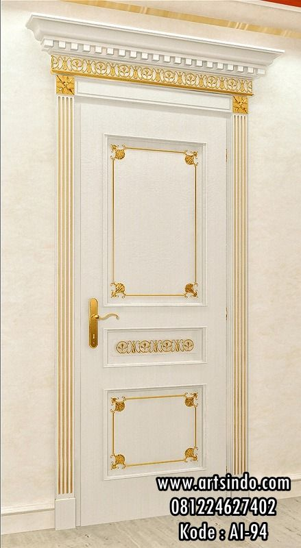 Model Pintu Kamar Mewah Klasik Gold Set Pintu Rumah Desain Eropa Pintu Interior Rumah Pintu