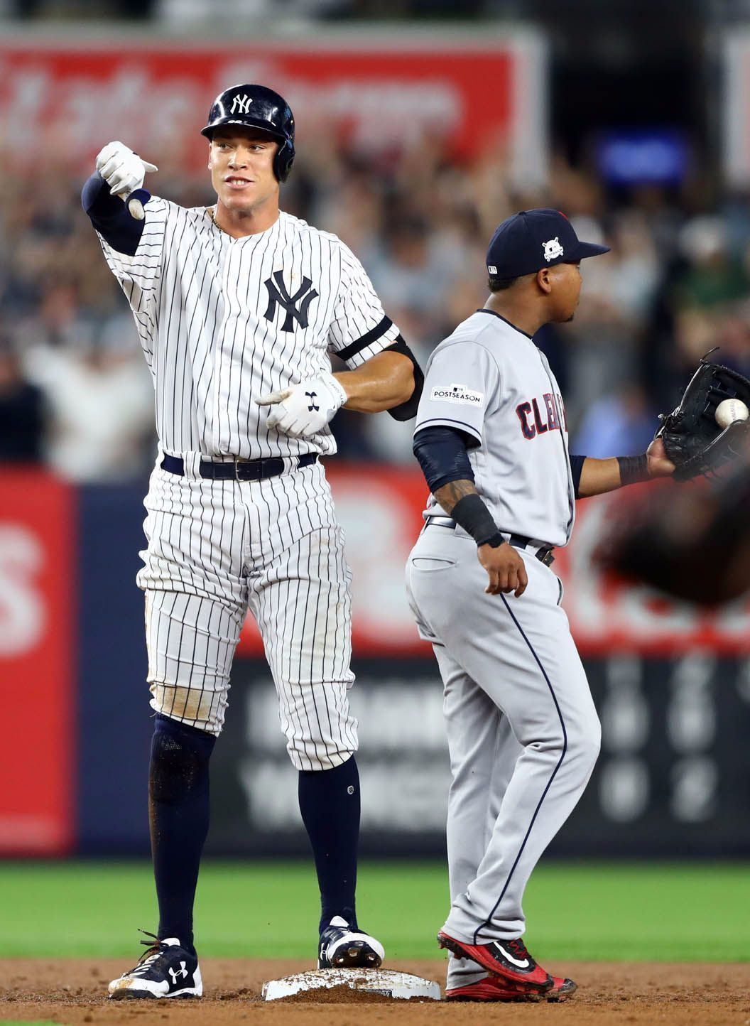 Aaron Judge Helps Send The Alds Back To Cleveland For A Game 5 In 2020 Yankees New York Yankees Ny Yankees