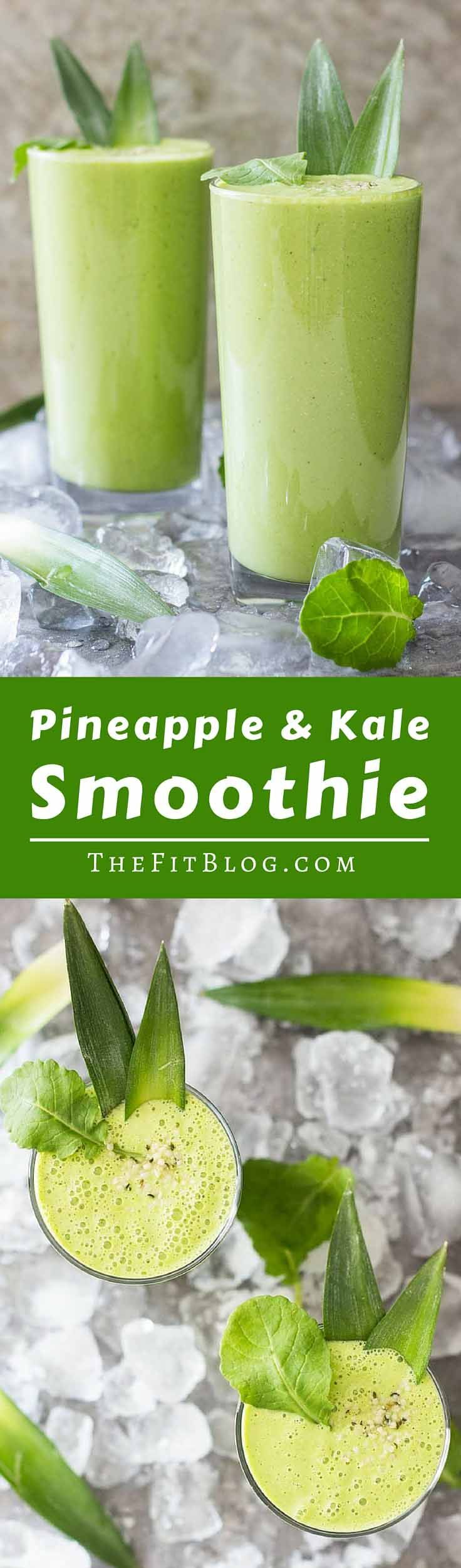 Pineapple Kale Smoothie – This delicious sugar-free smoothie only has 200 calories for a very large serving. Perfect for a workout shake or to cool off in the summer heat.