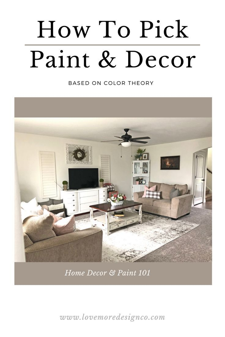 On today's post I talk all about color theory and the importance of understanding the basics to help you when it comes to choosing paint color and home decor. Head on over to read more about warm and cool tone, complimentary colors, the color wheel and much more. #howtopickpaint #howtoblog #homedecorblog #homedecor #livingroomdecor #livingroominspiration #interiordesignblog
