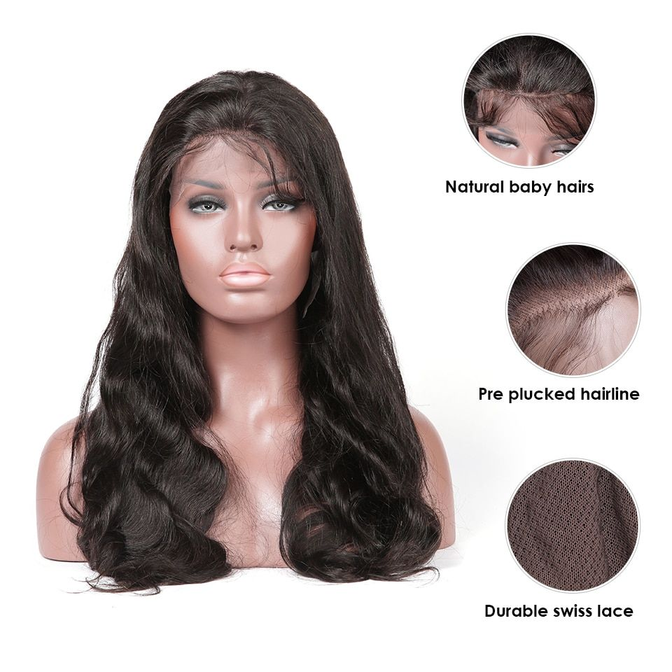 Hair Extensions & Wigs Hj Weave Beauty Full Lace Human Hair Wigs Straight Brazilian Remy Hair Swiss Lace Pre Plucked Natural Hairline Free Shipping