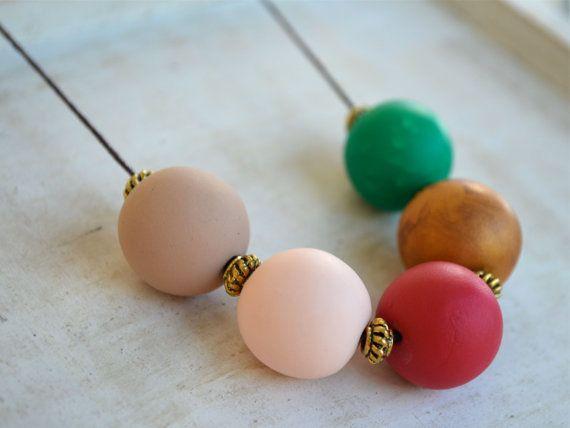 Carnevale  Polymer Clay Necklace by NewburyLane on Etsy